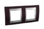 Рамка 2 поста венге/алюминий горизонтальная MGU66.004.0M3