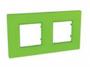 Рамка 2 поста зеленый универсальная MGU4.704.28