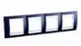 Рамка 4 поста индиго / белый горизонтальная MGU6.008.842