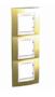 Рамка 3 поста золото/слоновая кость вертикальная MGU66.006V.504