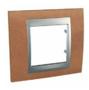 Рамка 1 пост черешня/алюминий MGU66.002.0M2