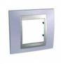 Рамка 1 пост голубой берилл/алюминий MGU66.002.098