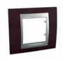 Рамка 1 пост глянцевый родий/алюминий MGU66.002.093