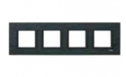 Рамка 4 поста черный камень MGU68.008.7Z1