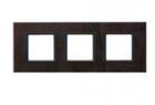 Рамка 3 поста кожа трюфель MGU68.006.7P2
