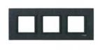Рамка 3 поста черный камень MGU68.006.7Z1