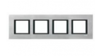 Рамка 4 поста серебряный алюминий MGU68.008.7A1