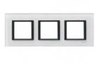 Рамка 3 поста белое стекло MGU68.006.7C2