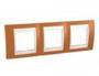 Рамка 3 поста оранжевый / слоновая кость горизонтальная MGU6.006.569