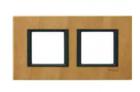 Рамка 2 поста кожа сахара MGU68.004.7P1