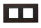 Рамка 2 поста кожа трюфель MGU68.004.7P2