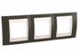 Рамка 3 поста какао / слоновая кость горизонтальная MGU6.006.571