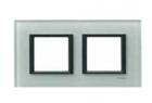 Рамка 2 поста матовое стекло MGU68.004.7C3
