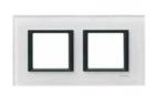 Рамка 2 поста белое стекло MGU68.004.7C2