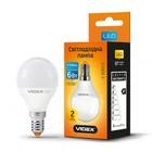 LED лампа VIDEX G45e 6W E14 3000K 220V