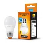 LED лампа VIDEX G45e 6W E27 3000K 220V