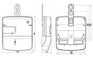 Габариты счетчика NIK 2300 AP6T.1000.C.11