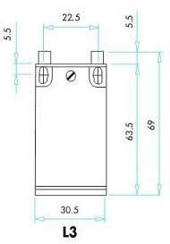 Габариты концевых выключателей EMAS серии L3
